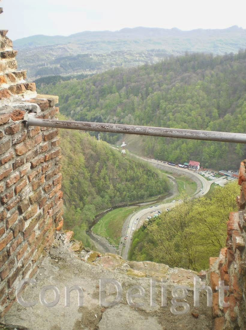 view from poenari castle