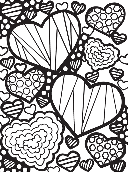 Image Result For Coloring Pages For Teens Hearts
