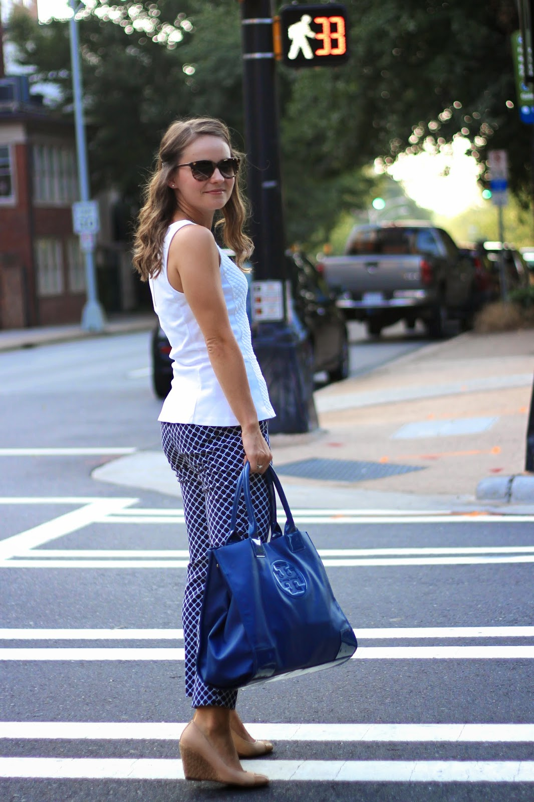 0cf105125 Summer Work Wear. J.Crew tank (similar) // Banana Republic pants ...