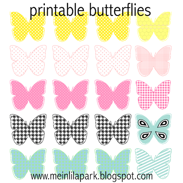 Free printable pastel colored butterflies - Schmetterling ...