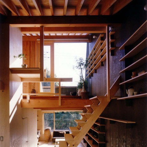 Natural modern interiors small house design a japanese open house - Tiny contemporary house interior ...