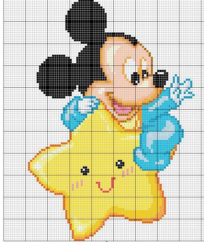 Punto Croce Per I Bambini La Mia Passione Fiocchi Nascita Disney