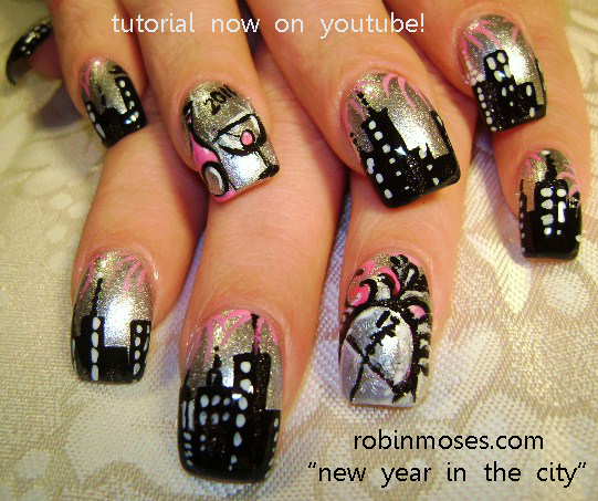 Robin moses nail art cutest nail art for christmas cute 75 total with tutorial to each designjust click the paragraph above d prinsesfo Images