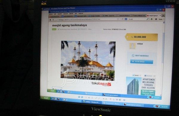 Aneh Masjid Agung Tasikmalaya Dijual di Internet