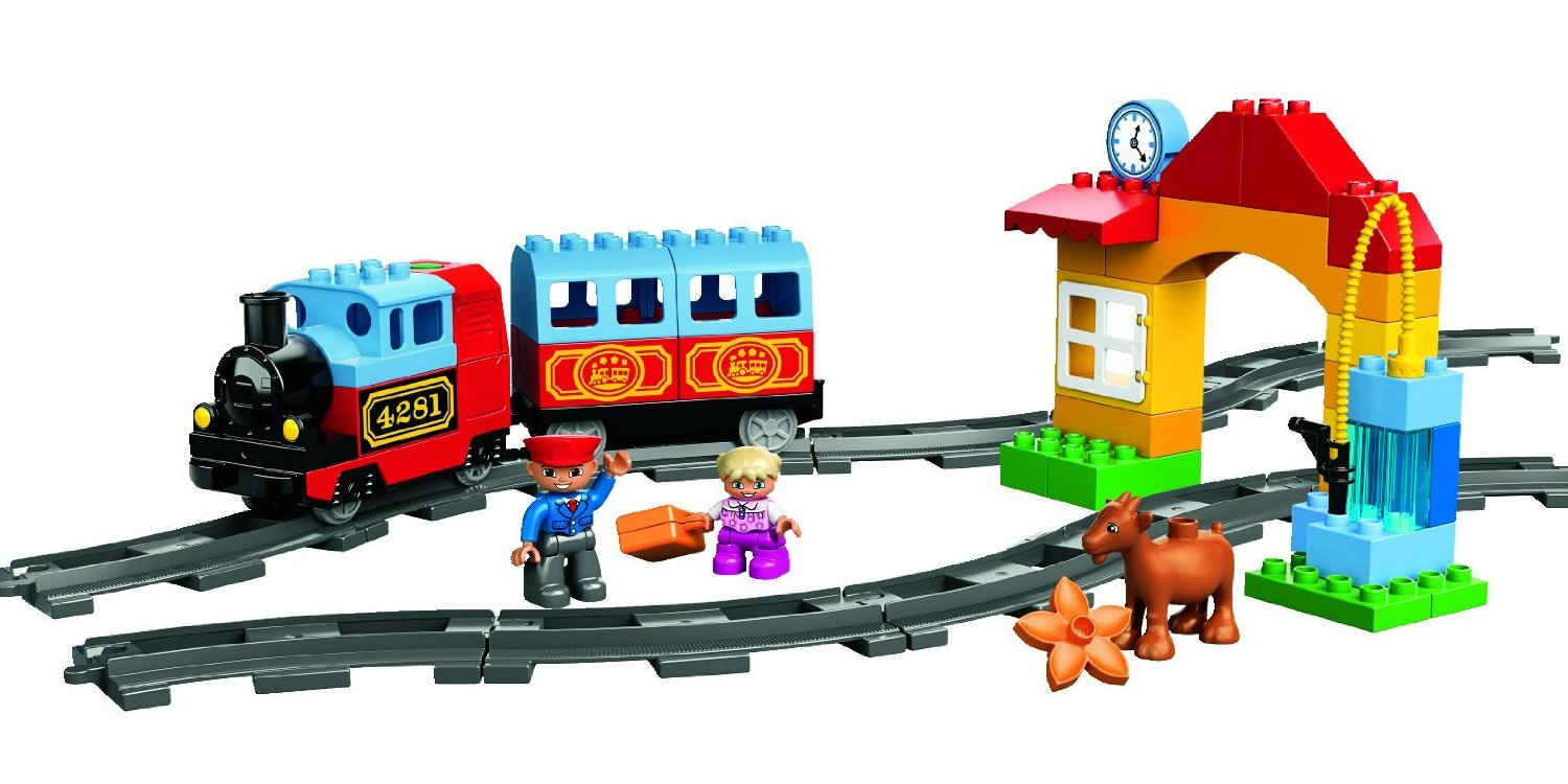my lego style lego duplo my first train 10507. Black Bedroom Furniture Sets. Home Design Ideas