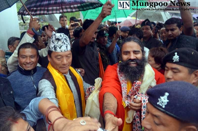 Bimal Gurung Baba Ramdev at Jogighat Mungpoo