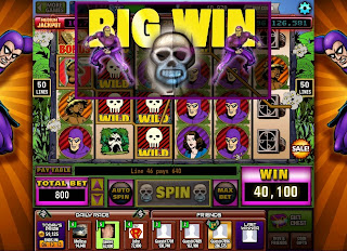 Big win screen at The Phantom Hit It Rich! Casino Slots