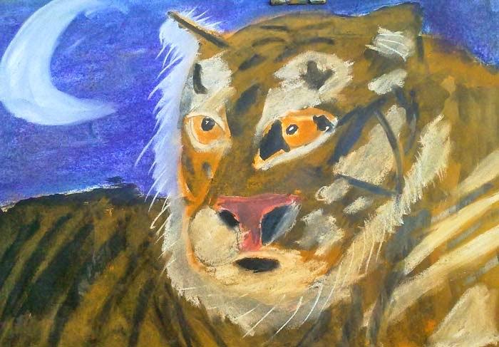 cabeza de tigre y media luna