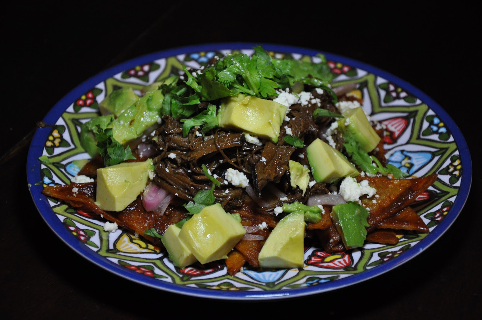 Chilaquiles with Southwestern Pulled Brisket