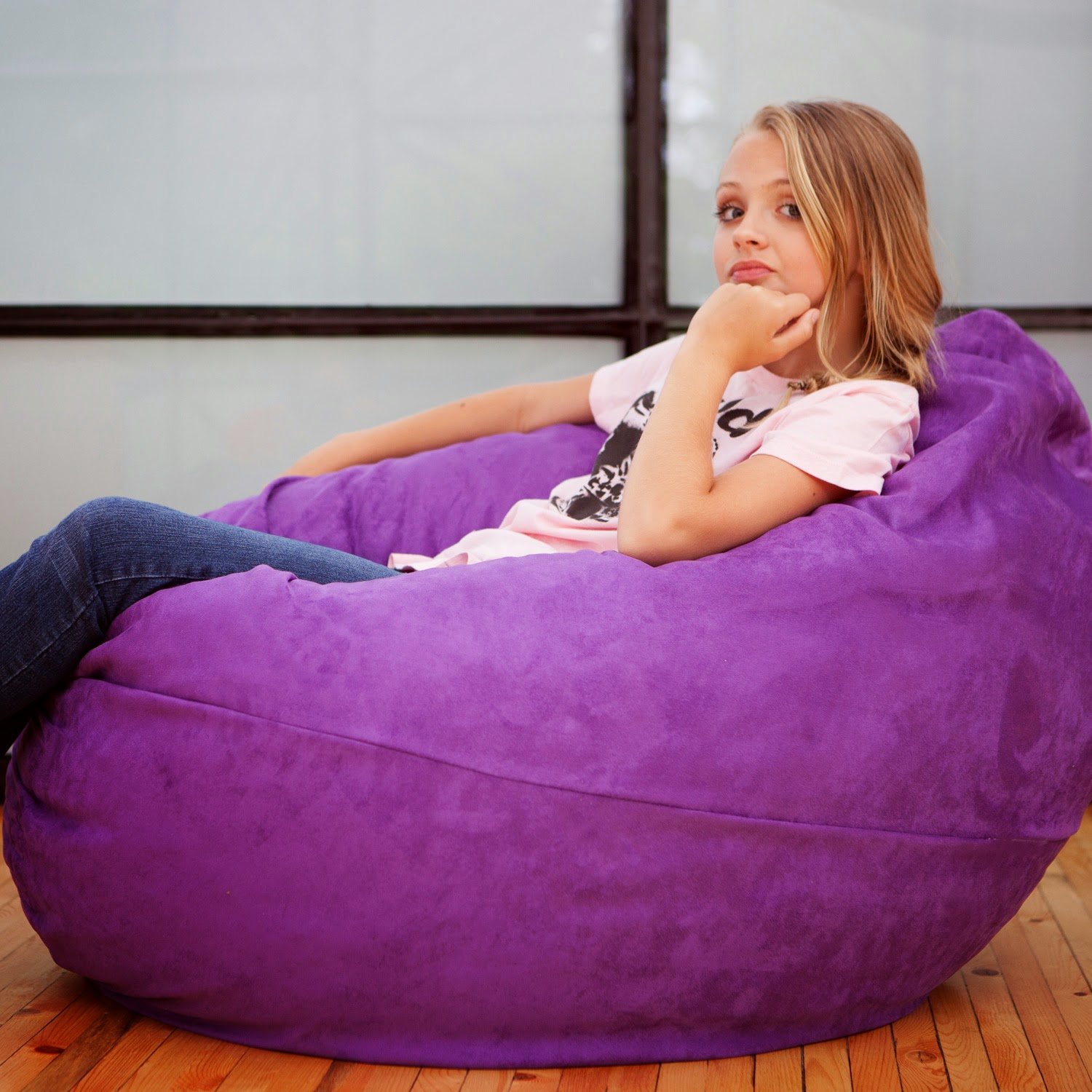 It Doesnu0027t Always Matter If The Chair Is Big Or Small; The Cuddly Softness  Of Bean Bag Chairs Appeals To Kids. The Bean Bag Lets Them Settle In And  They ...