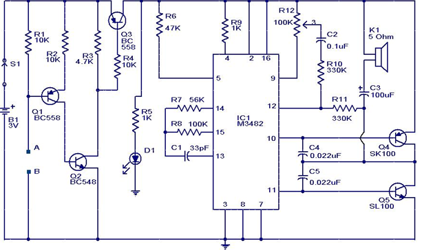 Water Sensor Circuit With Alarm Get Started