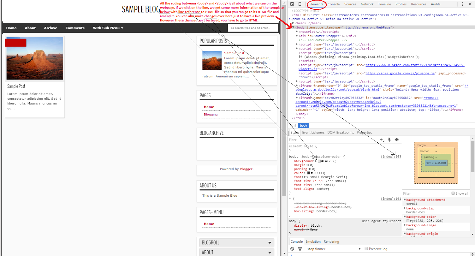 Tutorial 11 Understand The Html Or Xml Code Of The Blogger