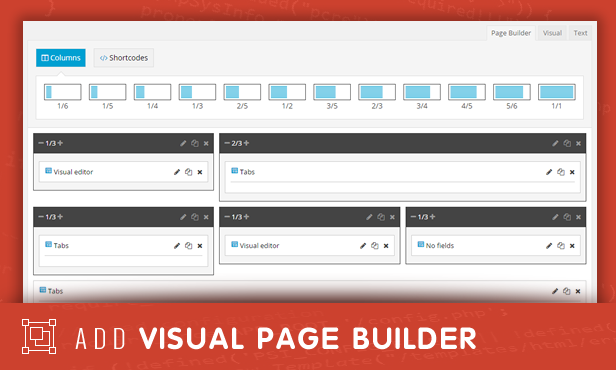 sneeit framework plugin - back-end for wordpress themes - visual page builder