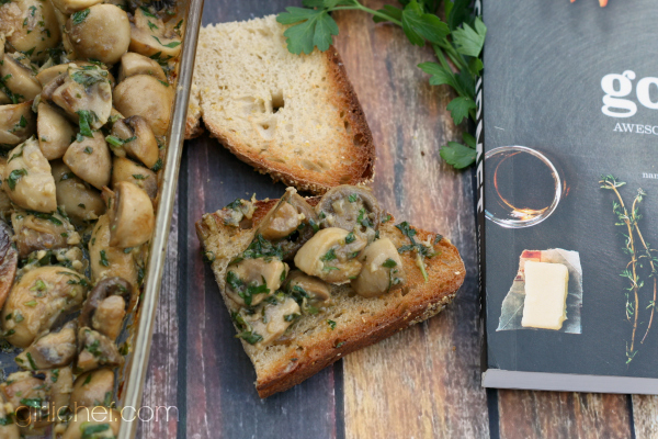 Dijon Mushrooms - Easy Gourmet Cookbook blog tour and giveaway | girlichef.com
