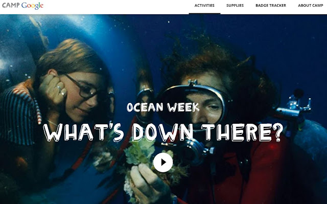 A screenshot from Ocean Week of Camp Google:  What's Down There?