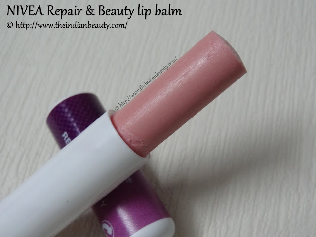 nivea repair and beauty lip balm packaging