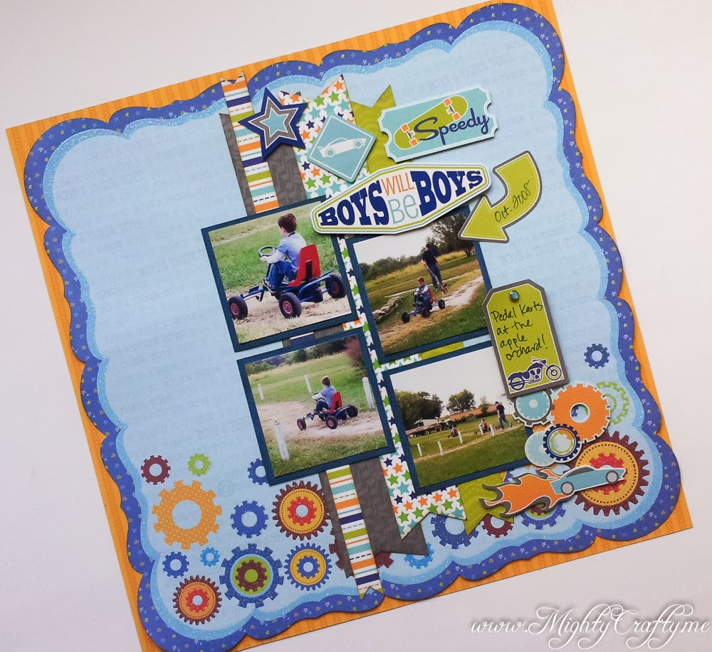 Boys Will Be Boys layout for Sketch #53 for Sketch N Scrap -- www.MightyCrafty.me