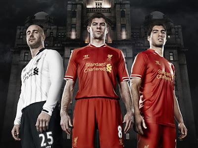 Les nouveaux maillots Liverpool 2013-2014