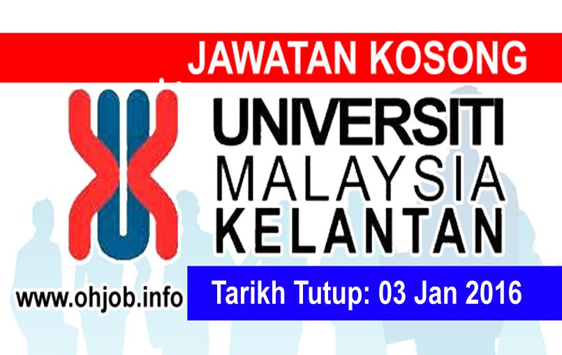 Jawatan Kerja Kosong Universiti Malaysia Kelantan (UMK) logo www.ohjob.info januari 2016