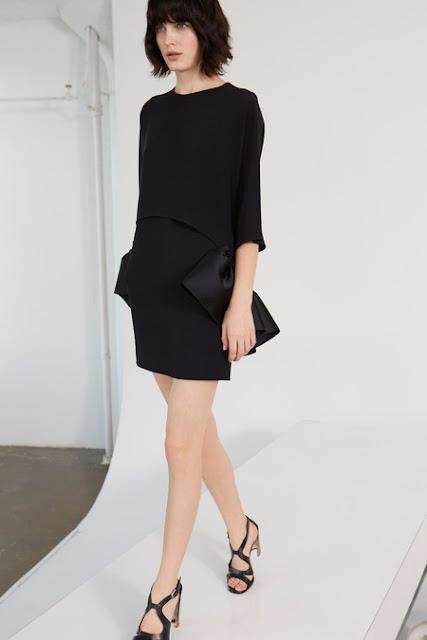 Stella McCartney, Resort 2014 - short black dress with satin bows at the hip. kiki's delivery service