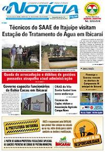 Capa do jornal A Notícia