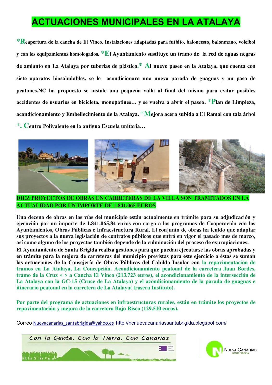 Actuaciones municipales La Atalaya