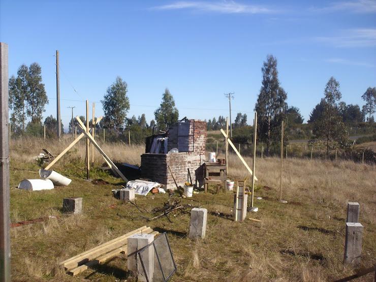 construyendo el quincho