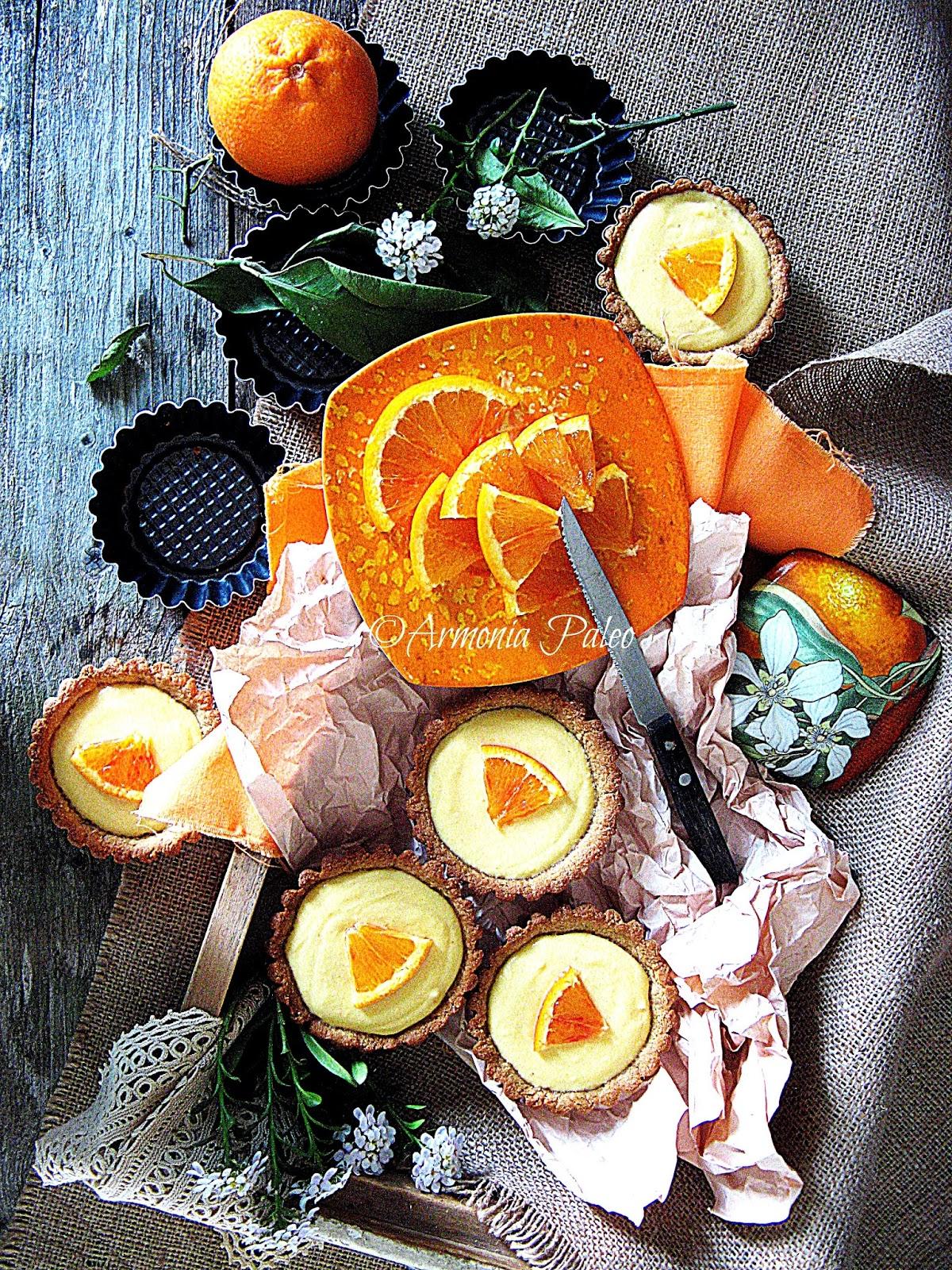Crostatine con Zigolo Dolce all'Arancia di Armonia Paleo