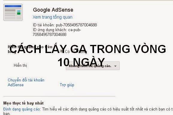 Hướng dẫn cách lên google adsense cực nhanh