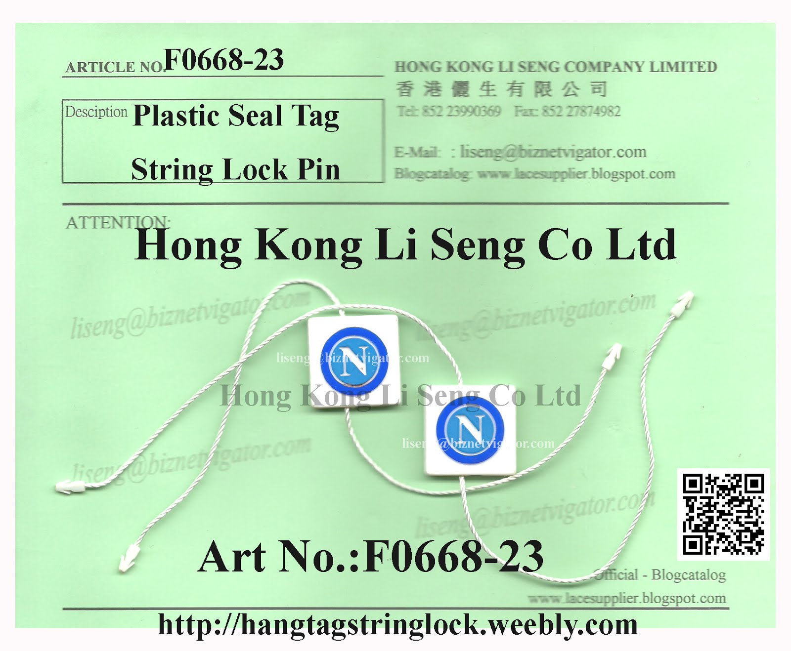 Daily News Plastic Seal Tag String Lock Pin