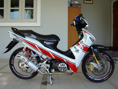 motor modifikasi supra x 125