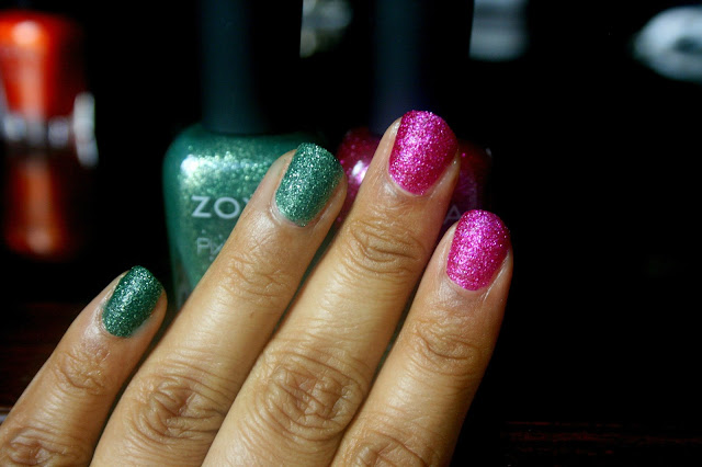 Zoya Nail Polish Fall Pixie Dust in Arabella and Chita Swatch