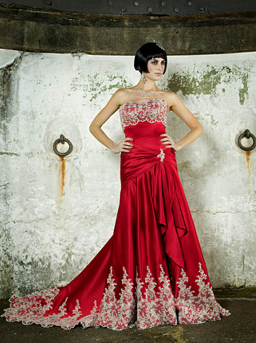 Wedding Dresses Color Red : Wedding with style uk bridal red color dresses fashion images