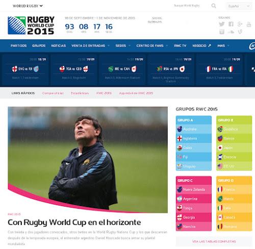 La página oficial de la Copa del Mundo en español