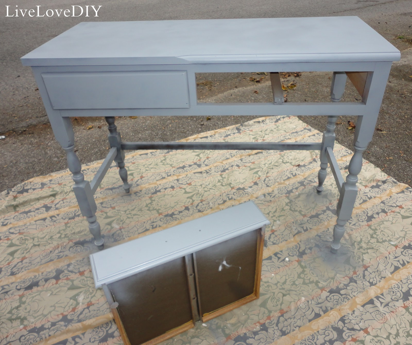 Livelovediy how to fix a spray paint disaster for Dark grey furniture paint