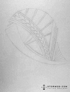 How to draw Samoan tattoo patterns