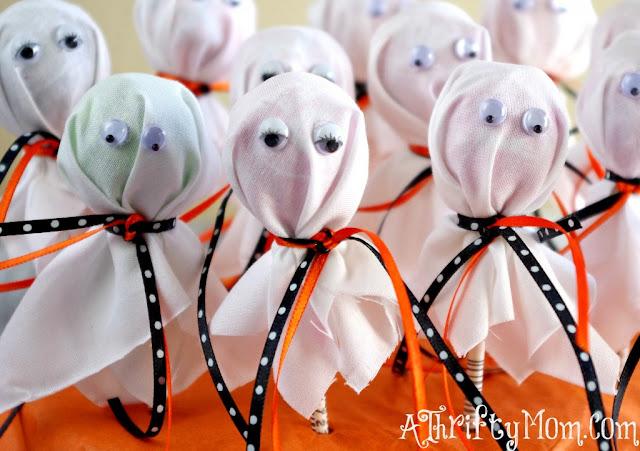 Lembrancinha para o Dia das Bruxas - Pirulito Fantasma