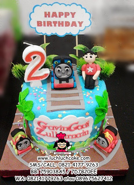 Kue Tart Ulang Tahun Fondant Kereta Thomas