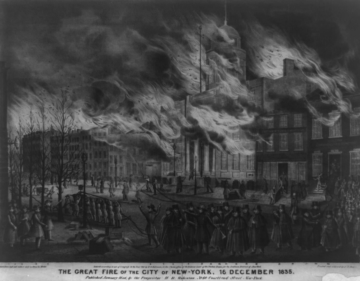 Nycupanddown Com Nyc Walking Tour The Great Fire Of 1835