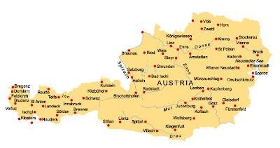 Carte de l'Autriche Departement