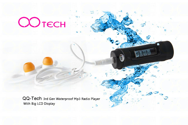 QQ-Tech® 3rd Gen 4GB Waterproof MP3 Player - Swim with your songs