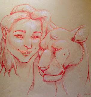 manu lafay dessin craft femme lion