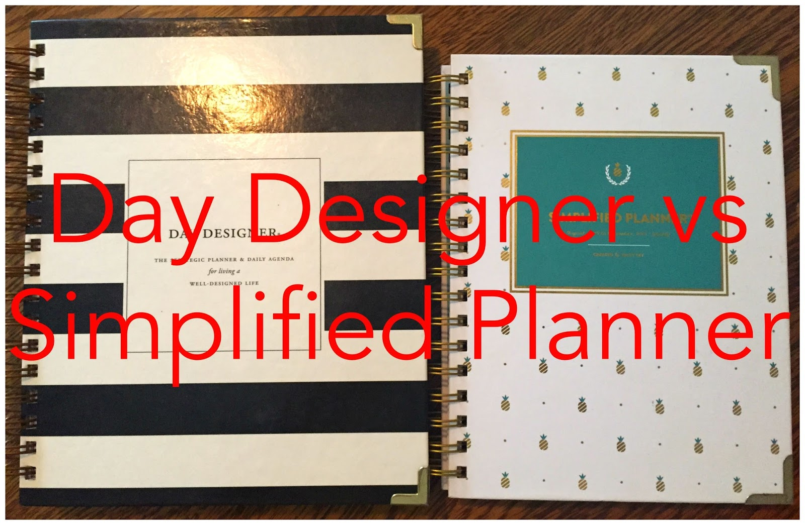 image relating to The Day Designer referred to as Professionalish: Working day Designer vs Simplified Planner