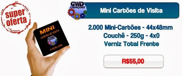 Esse Mini Cartão de visita é ótimo para se guardar em bolsos pequeno