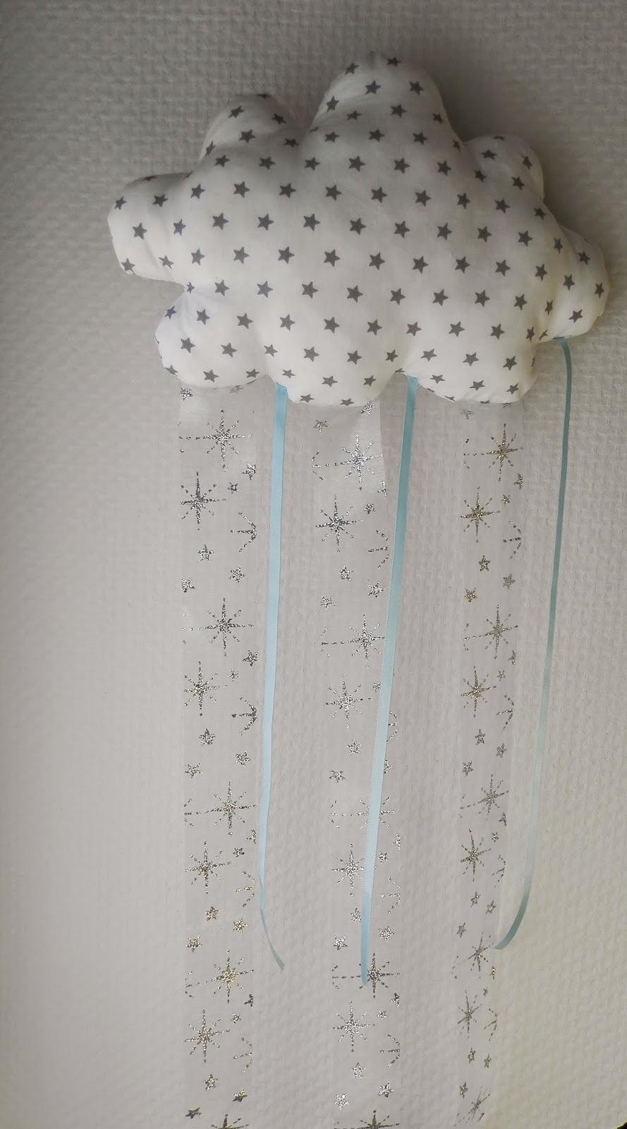Coton et Création : suspension nuage en tissu