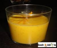Aperitivo de crema de zanahoria