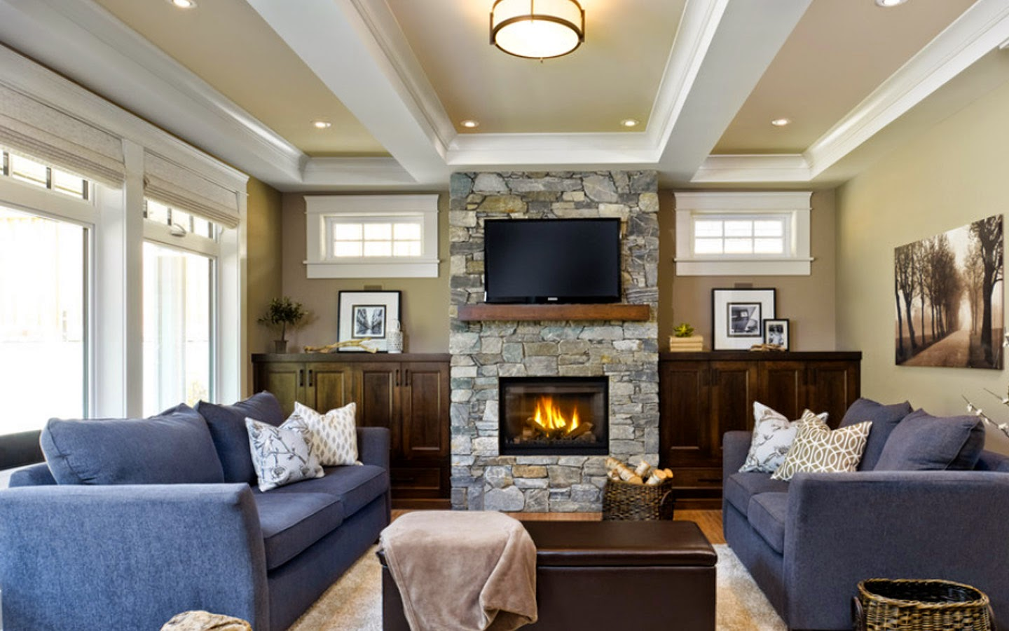 transitional living room modern craftsman bungalow modern