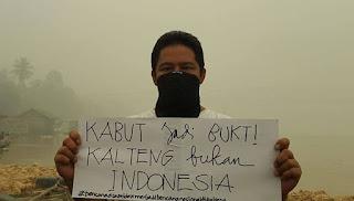 Kabut Jadi Bukti Kalimantan Tengah Bukan Indonesia