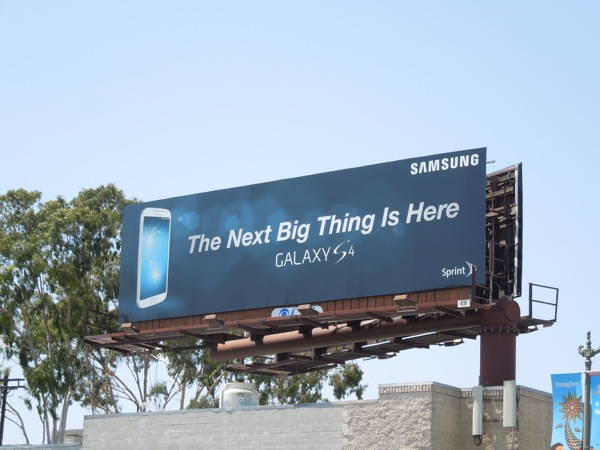 Samsung Galaxy S4 smartphone billboard
