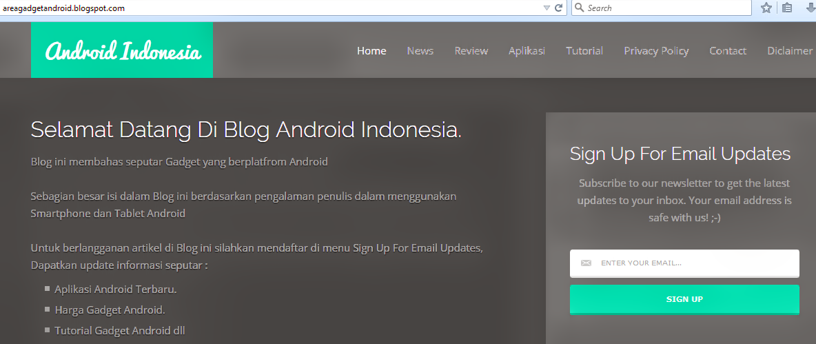 Cara Membuat Menu di Blogspot Part 2